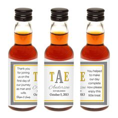 Custom Mini Liquor Bottle Labels Wedding Favors by LiquidCourage