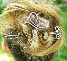 Cross, Hair Slides, Hair Clips, Hair Accessories, Bridal, Hair, Wedding, Hair Stick, Sticks, Hammered Copper, Hair Barrettes, Barrette, Pins on Etsy, $19.50