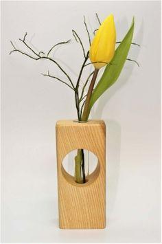 Vase, Holz, Reagenzglas, handgefertigt, Kunst, Schmuck, Blume, Tischdekoration, Deko, Handwerk, Stil, Holzkunst, natürlich, Vasen, Holzvasen, gedrechselte Vasen, Holzvase,