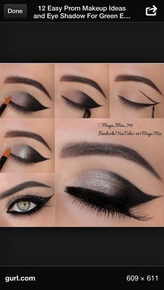 Simple dramatic eye makeup