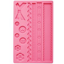 Easy fondant molds for cake or candies. Lalaloopsy Bithday Party!