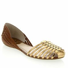 "Vince Camuto ""Caprio"" Woven Metallic Leather Flat"