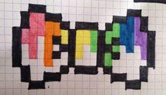 Chat multicolore | Mes pixel art | Pinterest - Pixel Art Papillon