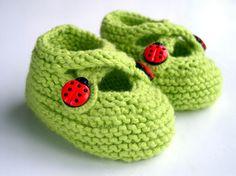 flat knit baby slipper pattern