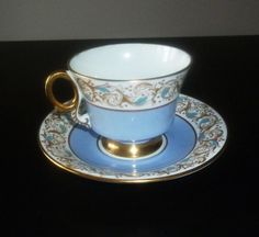 Vintage, Serving,  Teacup  Teacup with  saucer  Bone china Fine bone china, teacup with blue, England, vintage teacup,  Adderley