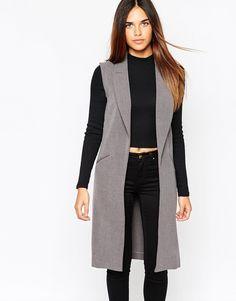 Asos, Warehouse Longline Sleeveless Jacket