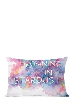 """Drowning in Stardust Bright Pillow with Zipper - 14"""" x 20"""""""