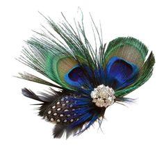 Womdee(TM) Fein Klein Süß Pfau Feder Haarspangen Haarklammern Haarschmuck Für Abendkleid Mit Womdee Accessorie: Amazon.de: Drogerie & Körperpflege