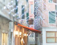 Venice Photography - ik with Fairy Lights, Cafe at Carnival, Venice, Italy, Travel Photography, Largej Wall Art komikjinjjijkjnijj