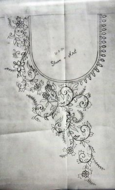 Diy Embroidery Flowers, Hand Embroidery Patterns Free, Cutwork Embroidery, Embroidery Stitches Tutorial, Flower Embroidery Designs, Simple Embroidery, Jewelry Design Drawing, Wreath Drawing, Persian Motifs