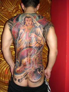 #Buddha #tattoo like a wall sculpture