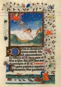 Infant Christ Sent to Earth | Hours of Catherine of Cleves, in Latin | Illuminated by the Master of Catherine of Cleves | Utrecht, The Netherlands | ca. 1440 | The Morgan Library & Museum