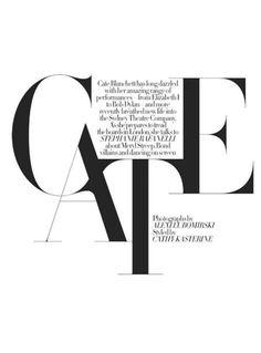 #magazine #cover #typography