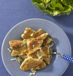 Käseschmarren mit Salat