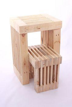 Pallet foot stool