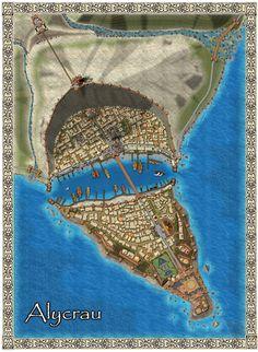 The seaport city of Alycrau