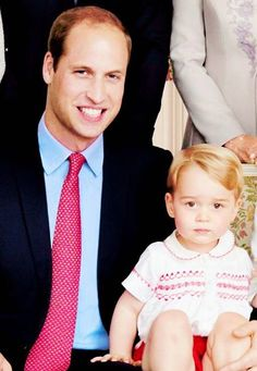 July 5, 2015 - Prince William & Prince George at Princess Charlotte's christening