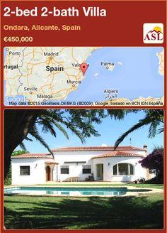 2-bed 2-bath Villa in Ondara, Alicante, Spain ►€450,000 #PropertyForSaleInSpain
