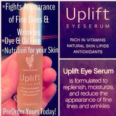 Younique's Uplift Eye Serum our little miracle in a bottle purchase your's today @ www.imthemascaralady.com