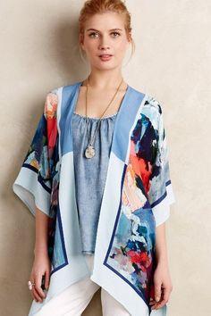 Painted Flora Kimono #anthropologie #kimono #anthropick