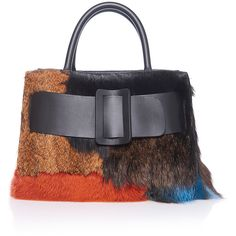 BOYY Fur Patchwork Bobby Bag ($1,995) ❤ liked on Polyvore featuring bags, handbags, shoulder bags, oversized handbags, fur handbags, oversized shoulder bag, buckle purses and fur purse