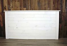 I recently refinished a few pieces of bedroom furniture for a client who wanted a beachy vibe in her master bedroom. She also wanted a shiplap headboard to com… Shiplap Headboard, White Headboard, King Headboard, Headboards For Beds, Headboard Ideas, Bedroom Ideas, Headboard Designs, Design Bedroom, Bedroom Inspo