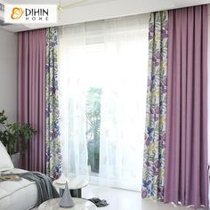 DIHIN HOME Garden Flower Spliced Curtains,Blackout Grommet Window Curtain for . - Kitchen World - Indian Living Rooms Living Room Decor Curtains, Boho Bedroom Decor, Home Curtains, Modern Curtains, Fixer Upper Living Room, Primitive Living Room, Drapes And Blinds, Indian Living Rooms, Room Color Schemes