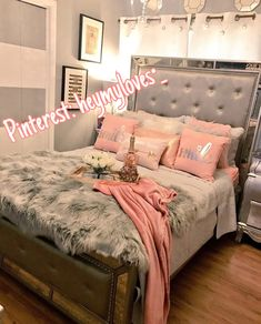 76 Cute Girls Bedroom Ideas for Small Rooms Cute Bedroom Ideas, Room Ideas Bedroom, Home Bedroom, Bedroom Decor, Bed Room, Master Bedroom, Paris Bedroom, Trendy Bedroom, Bedroom Themes