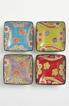 Hand-painted...Vagabond Vintage Furnishings 'Lotus' plates