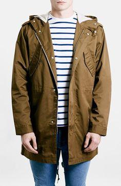 TOPMAN Faux-Fur Trimmed Hooded Parka. #topman #cloth #coats ...