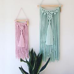 hese two yummy Tassel MACRAMÉS are heading out for a special little girl's bedroom! Unfortunately no more mint or pink left x ✌���