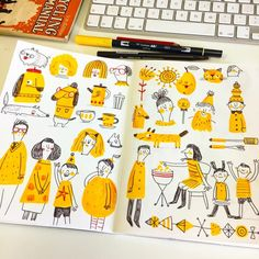 "892 Likes, 11 Comments - Linzie Hunter (@linziehunter) on Instagram: ""Monday sketchbook drawing... #sketchbook #doodle #drawing #illustration #art #linziedraws #yellow"""