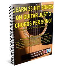 LEARN 33 HIT SONGS ON GUITAR JUST 3 CHORDS PER SONG! I Gotta Feeling, Music Institute, Steve Miller Band, Guitar Chords For Songs, Guitar Books, Online Guitar Lessons, Everclear, Lead Sheet, Music Symbols