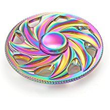 Colorful Wheel Round Spinner Fidget Spinner Metal Material EDC Hand Finger Spinner for High Speed Relieving ADHD, OCD, Anxiety (Rainbow) -- You can get additional details at the image link. (This is an affiliate link) Rainbow Fidget Spinner, Diy Fidget Spinner, Cool Fidget Spinners, Cool Fidget Toys, Spinner Toy, Hand Spinner, Figet Spinners, Nerf Toys, Pink Apple