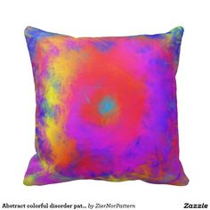 Abstract colorful disorder pattern throw pillow