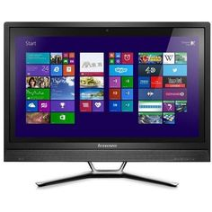 Introducing Lenovo 57328296 Idea C460 215 LED Touch Mainstream All In One PC Intel Core i34130T Processor 6GB DDR3 1TB HDD Intel HD4400 DVD RAMBO Wireless N 720P Webcam USB30HDMICard Reader Windows 81 64bit Black w Silver Stand. Great product and follow us for more updates!