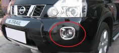 Nissan X-Trail Chrome Front Foglight Fog Light Lamp Cover Reflector Garnish