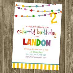 Rainbow Party - Invite
