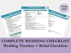 Wedding Checklist Watercolor Design  Dustin And Krystal Wedding