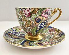 Vintage Shelley Chintz Tea Cup & Saucer Paisley