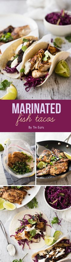 Marinated Fish Tacos | 7 Delicious Dinners That Are Under 500 Calories Each