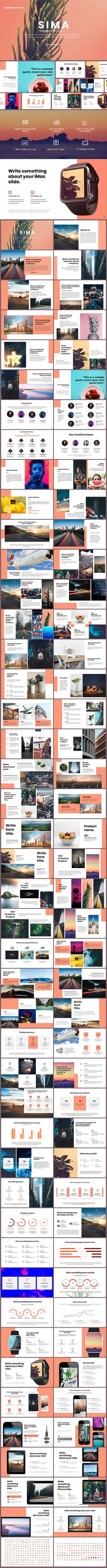 Sima Keynote Template