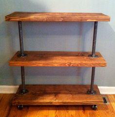 Modern Utility Cart 3 Shelves by TylerKingstonWoodCo on Etsy, $300.00