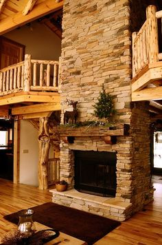 Looks like it would go perfectly in my dream log cabin home one day! Love it! #LogHomeDecorating