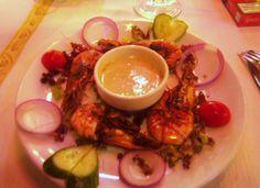 ~Garlic prawns with remoulade......Istanbul, Turkey 2011