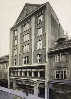 Kotěra Mozarteum - Jungmannova Straße Prag Czech Republic, Monochrome, My House, Inspiration, Facades, History, World, Memories, Book