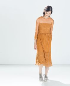 ZARA - WOMAN - EMBROIDERED DRESS