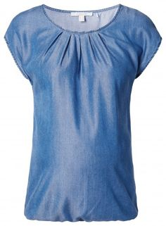 Дамска блуза с къс ръкав за бременни ESPRIT MATERNITY - син