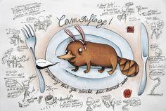 [camuflado]  illustration by Roberto Gadotti, via Behance