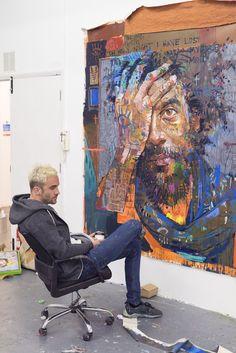 Andrew Salgado on working hard, worrying less and staying razor sharp in a cut-throat industry Studios D'art, Modern Art, Contemporary Art, L'art Du Portrait, Portraits, Art Inspiration Drawing, Art Et Illustration, Arte Pop, Art Moderne